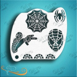 diva stencils Spider Guy pochoir spiderman maquillage aerographe maquillages magiques