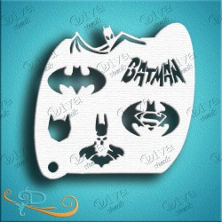 Diva stencils bat guy pochoir batman aerographe maquillage maquillages magiques