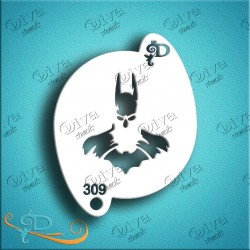 Diva stencils bat guy graphic pochoir batman aerographe maquillage maquillages magiques