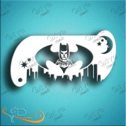 Diva stencils Batman band 127 pochoir batman aerographe maquillage maquillages magiques