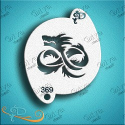 Diva stencils tribal dragon 369 pochoir dragon aerographe maquillage maquillages magiques