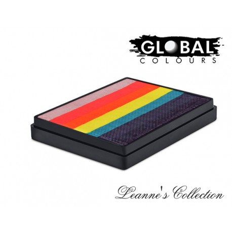 Leanne's Tropical maquillage papillon  Rainbow Cake Global Colours