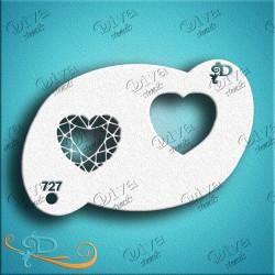 Pochoir maquillage Coeur Diamant Diva Stencils 727