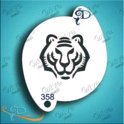 Maquillage pochoir tigre Diva Stencils 358 grimage