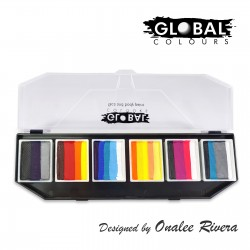 Global Colours Hero Power Onalee Rivera palette maquillage One-Stroke