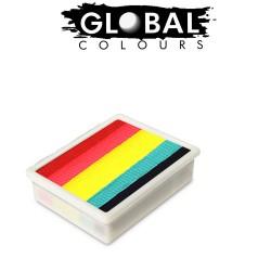 Global Colours Leanne's Rainbow Neon 10g recharge fun stroke palette