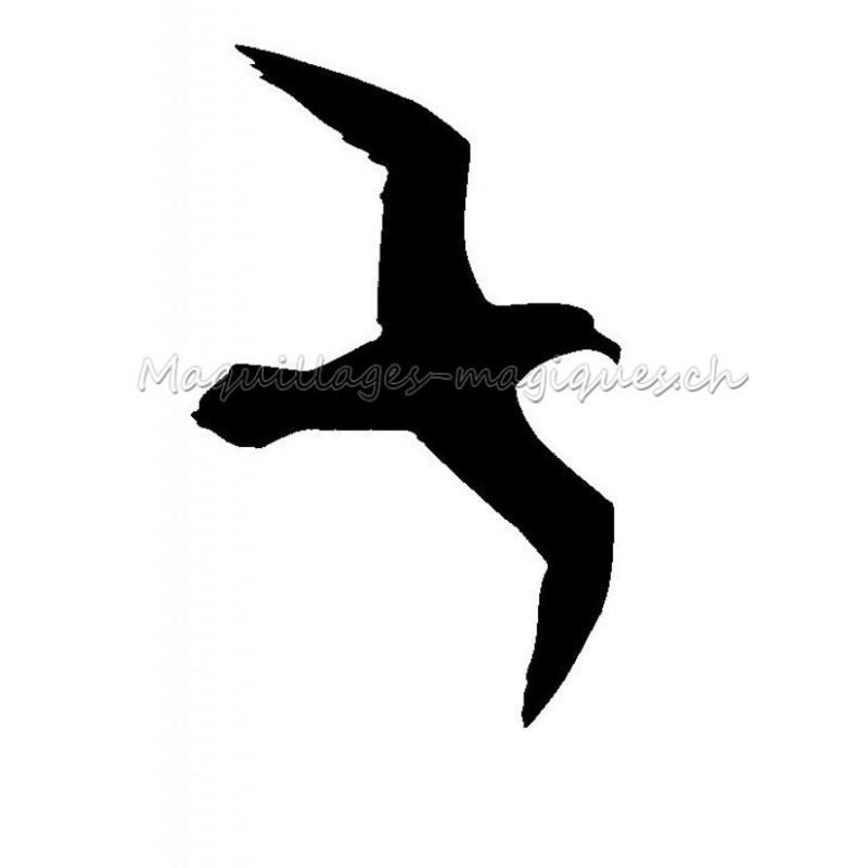 mouette pochoir tatouage temporaire oiseau ybody 20500 maquillages magiques. Black Bedroom Furniture Sets. Home Design Ideas