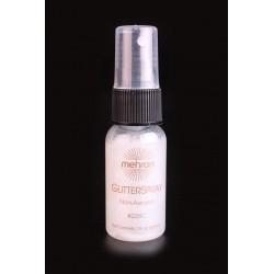 Spray paillette corps et cheveux blanc Mehron Glitter