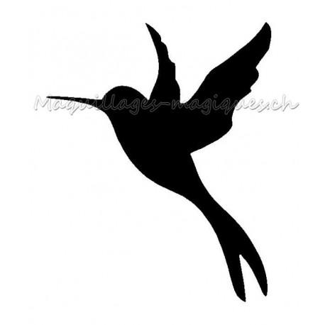 Colibri mini pcohoir tatouage temporaire oiseau ybody for Pochoir oiseau