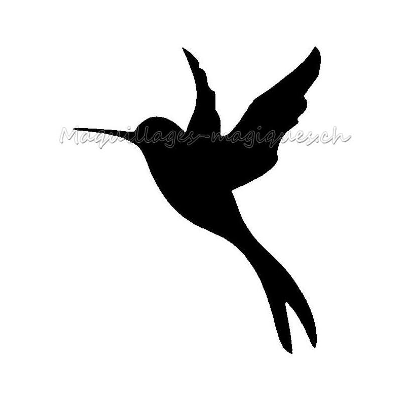 colibri mini pcohoir tatouage temporaire oiseau ybody 19000 maquillages magiques. Black Bedroom Furniture Sets. Home Design Ideas