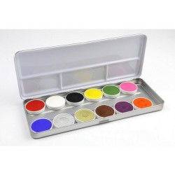 Maquillage enfant déguisement palette 12 fards à eau Bright Superstar