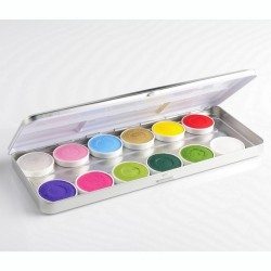 Maquillage enfant déguisement palette 12 fards à eau Botanical Superstar
