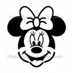 Pochoir adhésif Minnie tatouage enfant anniversaire glitter tattoo