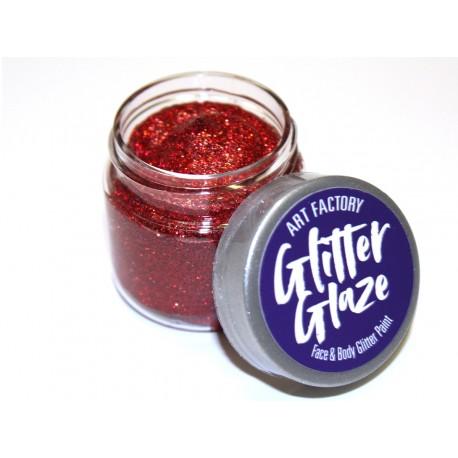 Paillettes pour le corps gel pailleté Glitter Glaze Art Factory ROUGE