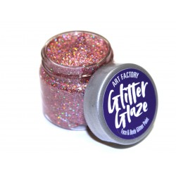 Paillettes pour le corps gel pailleté Glitter Glaze Art Factory ROSE