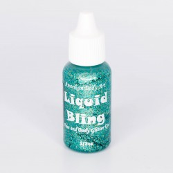 Amerikan Body Art Liquid Bling Gel Paillette TURQUOISE Atlantis visage
