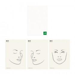 Support d'entraînement face chart maquillage 1 planche tranpsarente et 3