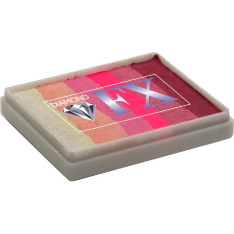 Diamond DFX Splitcake Pink Passion Rainbow 50g maquillage à l'eau