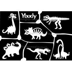 Tatouage temporaire - Tatouage éphémère - planche dinosaure