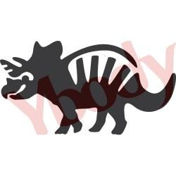tatouage temporaire dinosaure triceratops