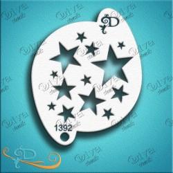 Pochoir cercle d'étoiles