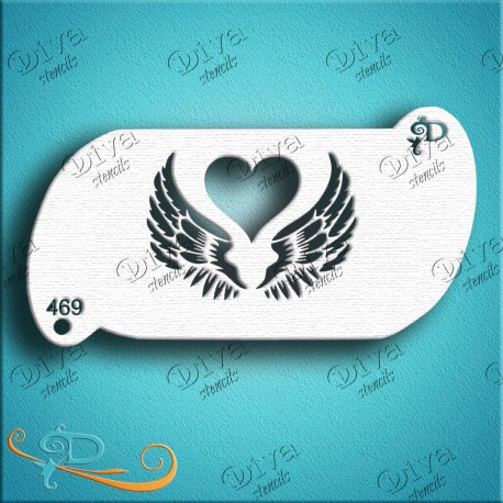 Pochoir ailes d'amour