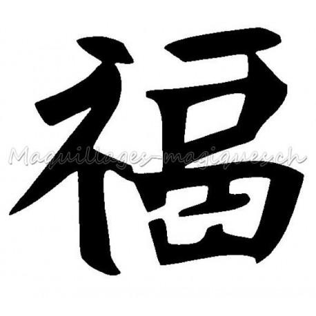 Célèbre symbole-chinois-chance-pochoir  WD71