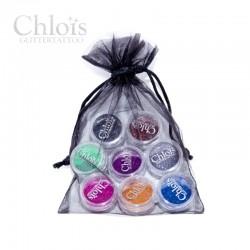 Chloïs Glitter Mini's Dark - sachet de 8 couleurs de paillettes
