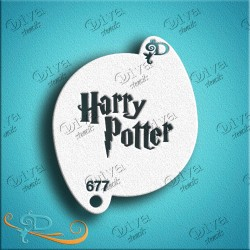 Pochoir Harry Potter maquillage grimage Diva Stencils 677