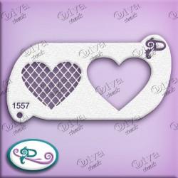 Pochoir maquillage Valentine Heart CrissCross - 1557