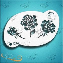 Pochoir Rosie Rose Bud maquillage aérographe Fleur Diva Stencils 1276