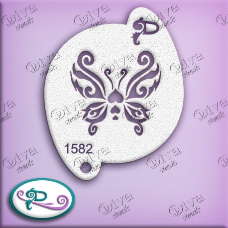 Pochoir papillon Valentine Butterfly Diva Stencils-1582