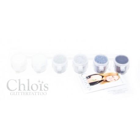 Assortiment de paillettes Chloïs Glitter Combipack Black & White