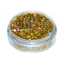 Chloïs Glitter Flakes Laser Gold