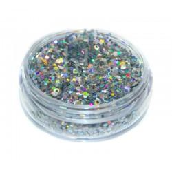 Chloïs Glitter Flakes Laser Silver