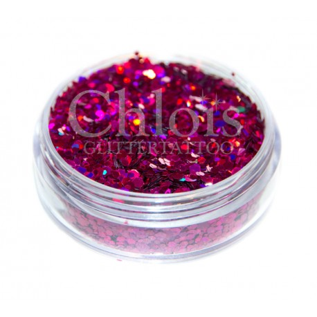 Chloïs Glitter Flakes Laser Rose