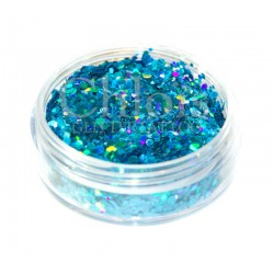 Chloïs Glitter Flakes Laser Blue