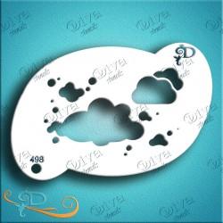 diva stencils clouds flat bottom 86 pochoir nuage maquillages magiques