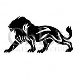 Lion n°1000 pochoir tatouage