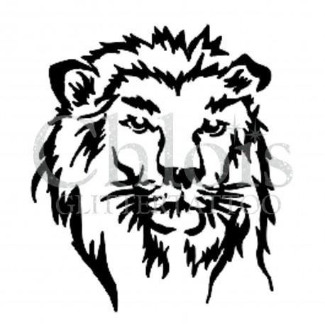 Tête de lion n°1001 pochoir tatouage