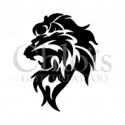 Lion qui rugit n°1002 pochoir tatouage