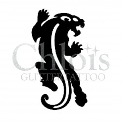 Tigre n°1004 pochoir pour tatouage temporaire