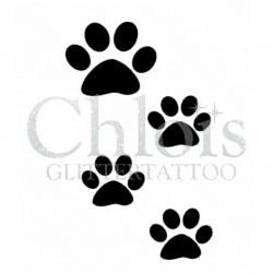 Empreinte de chat n°1010 pochoir pour tatouage temporaire