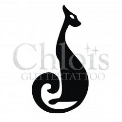 Chat n°1011 pochoir pour tatouage temporaire