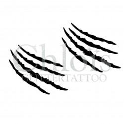 Griffe d'animaux n°1204 pochoir chloïs Glittertattoo pour tatouage temporaire