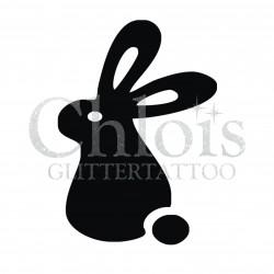 Lapin n°1205 pochoir chloïs Glittertattoo pour tatouage temporaire