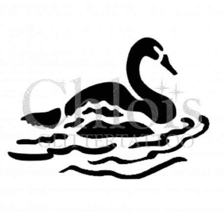 Cygne n°1301 pochoir chloïs Glittertattoo pour tatouage temporaire