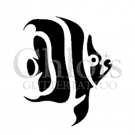 Poisson Lucy n°1302 pochoir chloïs Glittertattoo pour tatouage temporaire