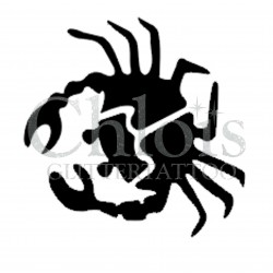 Crabe n°1303 pochoir chloïs Glittertattoo pour tatouage temporaire