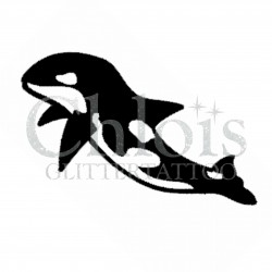 Orque n°1306 pochoir chloïs Glittertattoo pour tatouage temporaire